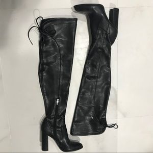 Over the knee heeled boots 7.5